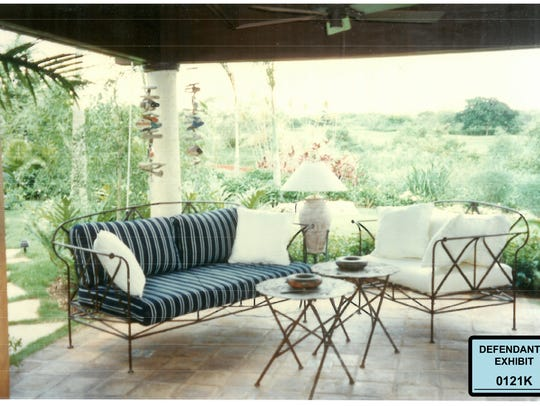 Defendants' exhibit: A patio area at Salomon Melgen's home in Casa de Campo, Dominican Republic.