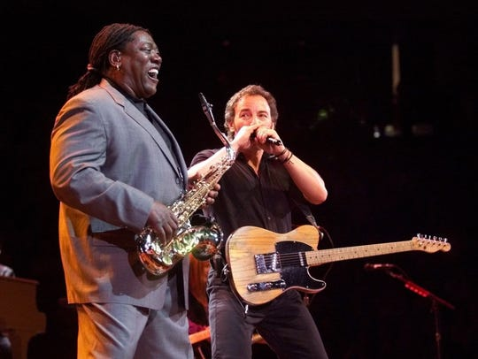 Bruce Springsteen and  Clarence Clemons at Continental