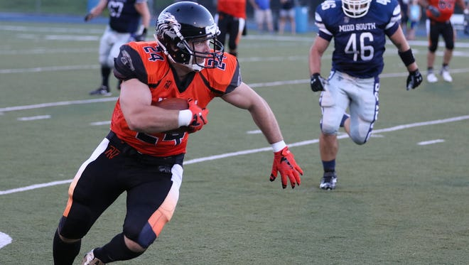Sean McKee of Middletown North scored the game winning touchdown.