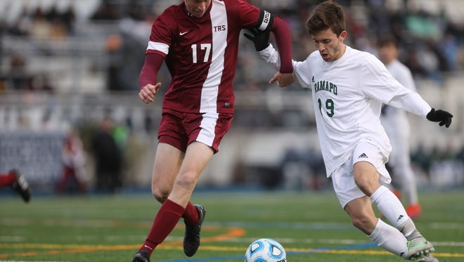 Ramapo senior Andrew Brunetti (19) joins three of his teammates on the All-Bergen County list. Brunetti helped the Green Raiders beat Toms River South, 3-0, in the Group 3 final.
