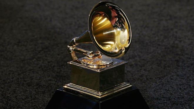 Los Angeles, UNITED STATES: The trophy of the Grammy Awards in Los Angeles 11 February 2007. AFP PHOTO/Gabriel BOUYS (Photo credit should read GABRIEL BOUYS/AFP/Getty Images)