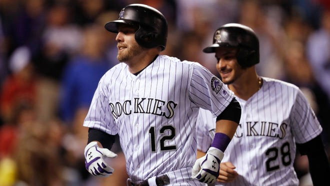 Mark Reynolds (12) was hitting .315 with 13 homers for the Rockies entering Saturday.