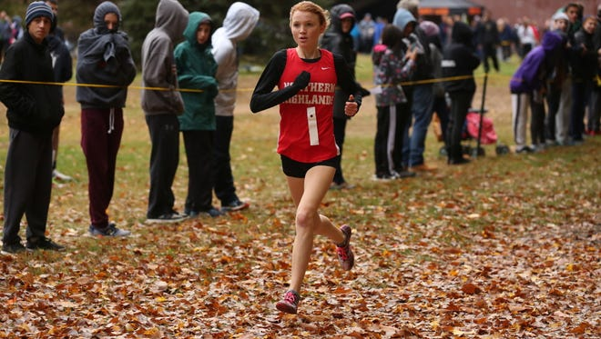 Northern Highlands' Monica Hebner won in a personal-best 17:54 at a batch meet this week.