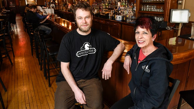 Tommy Lee and his stepmom Jackie, co-owners of the White Horse Restaurant & Bar, talk about the past and future of the business on March 22, 2018, in St. Cloud.