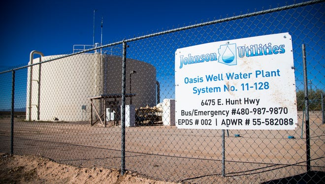 Part of the Johnson Utilities Oasis Well Water Plant system is situated close to the Oasis Magic Ranch housing development in Florence.