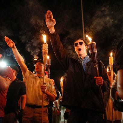 Georgia town braces for face off between neo-Nazi, anti-fascist groups