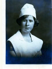 A 1928 nursing school portrait of Mellie (Amelia Elizabeth Wilcox).