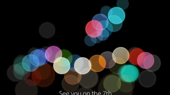 Apple September 7 event invitation art.
