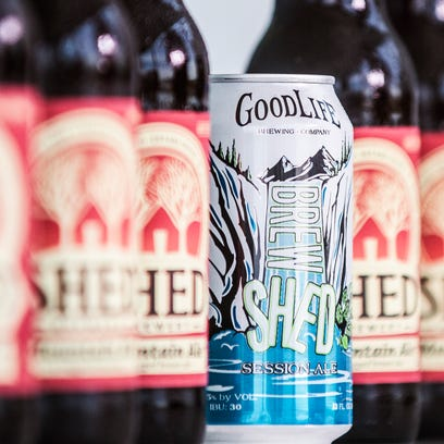 Left, Shed Brewery's Mountain Ale -- owned by Otter Creek Brewing Co. in Middlebury --  and, right, Good Life Brew Shed made in Bend, Oregon.