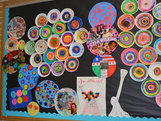 Winslow Elementary School students celebrated International Dot Day by learning about artists and creating art.