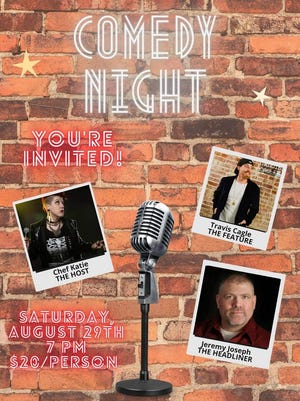 The Meridian Center will host a comedy night at 7 p.m. Aug. 29.