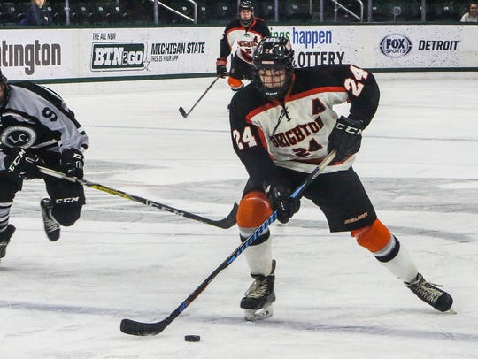 Brighton's Jake Crespi was named Mr. Hockey after leading the Bulldogs to the state Division 1 championship.