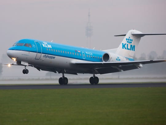 Taking delivery of a new airplane, such as a Fokker jet manufactured in the Netherlands, can require a creative itinerary.