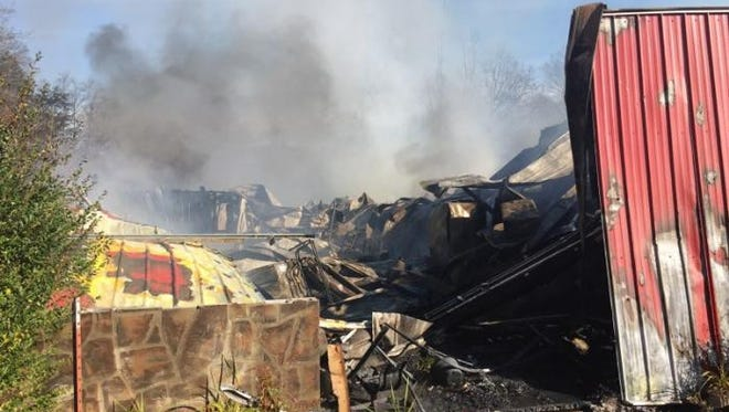 A barn fire at Little Ponderosa Zoo in Clinton resulted in the deaths of about 45 animals on Monday, Dec. 4, 2017.