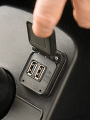 The dual USB ports will charge your device or help