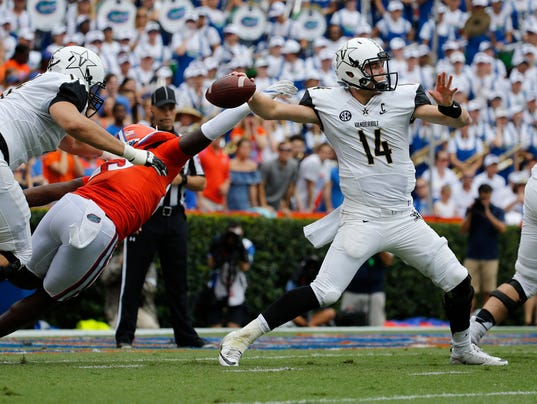 NCAA Football: Vanderbilt at Florida