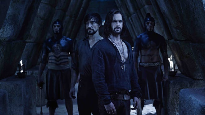 'Da Vinci's Demons': Protagonist Leonardo da Vinci (Tom Riley), and his rival Count Riario (Blake Ritson).