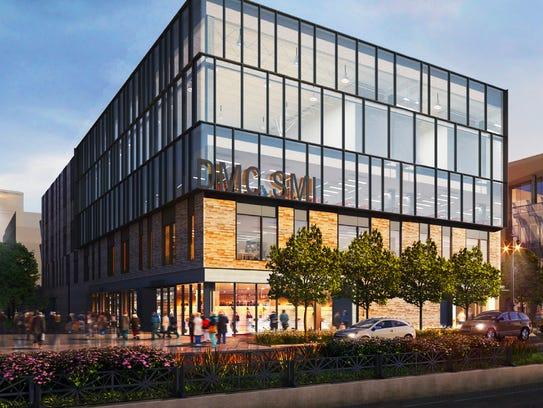 A rendering of the future DMC Sports Medicine Institute