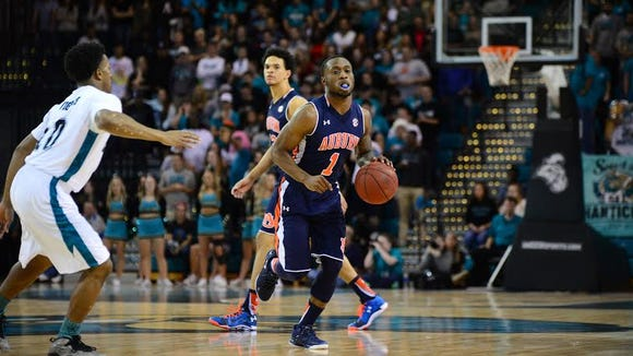 Auburn guard Kareem Canty finished with 11 points in