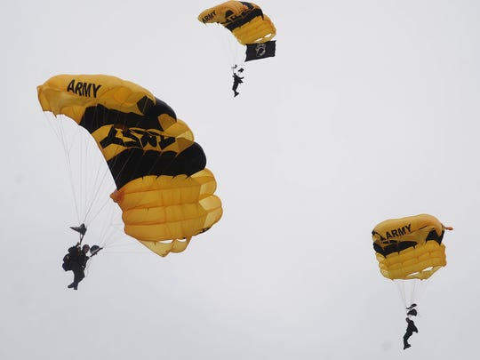 The U.S. Army Golden Knights will appear this weekend at the Florida International Air Show.