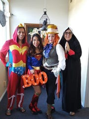 Stop by the office today for some blessings, life saving, or inspiration! Happy Halloween from the girls at Jill Olivares Insurance!  Lisa Marquez, Brenda Lara, Jill Olivares and Candice Alexander.