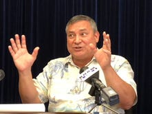 Calvo submits plan for $42M in cuts, furlough still in place