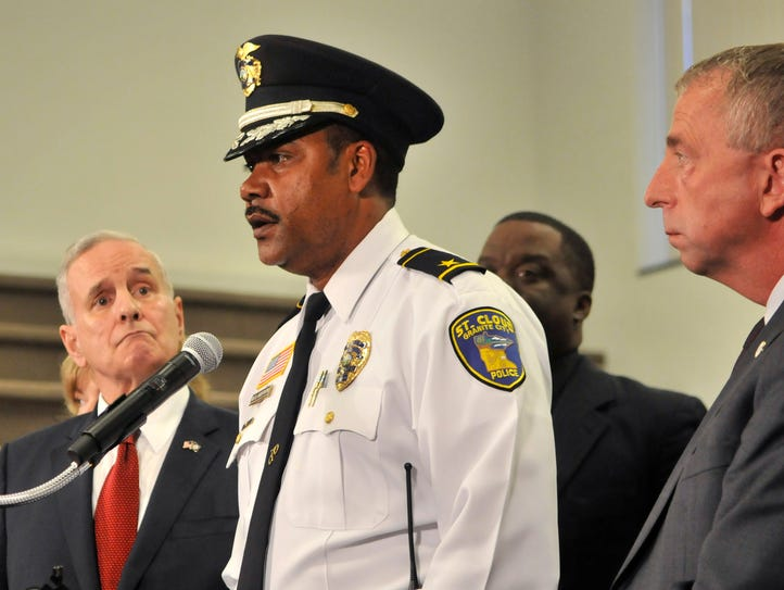 St. Cloud Police Chief Blair Anderson addressed about