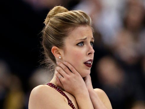Ashley Wagner was selected to her first Olympic team.