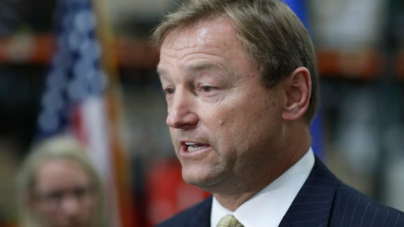 Sen. Dean Heller, R-Nev., speaks at a news conference