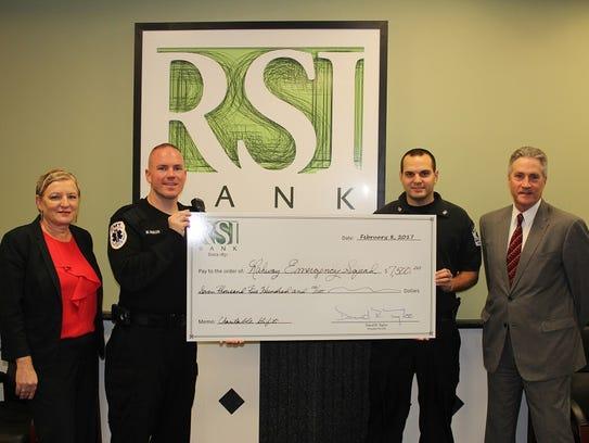 RSI Bank supports Rahway EMT Squad RSI Bank recently