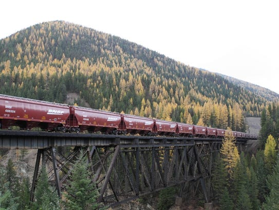 Railroad-related accidents or incidents in Montana