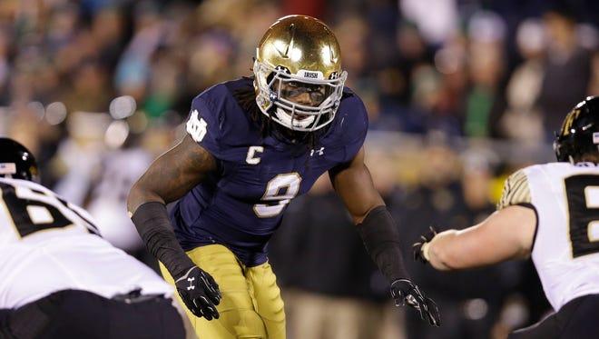 Notre Dame linebacker Jaylon Smith