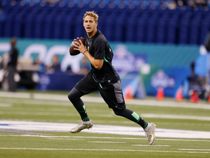 1. Los Angeles Rams (from the Titans): QB Jared Goff,
