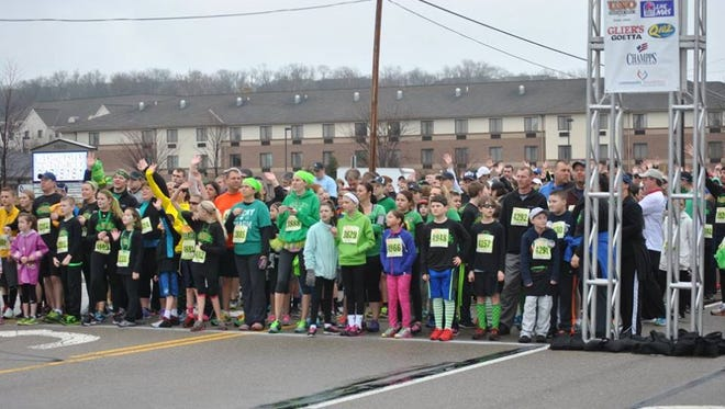 Runners line up for last year's Shamrock Shuttle in West Chester.