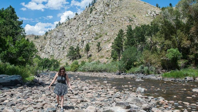Environment reporter Jacy Marmaduke experiences the Poudre Canyon for the first time in August 2015.