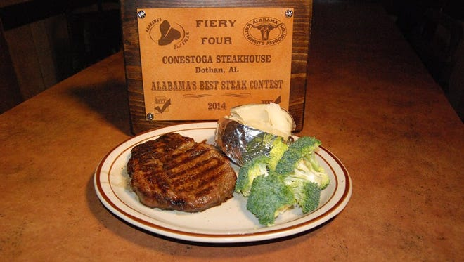 Conestoga Steakhouse in Dothan won a statewide steak contest.