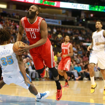 Dec 17, 2014; Denver, CO, USA; Houston Rockets guard