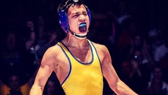 California state champion Justin Mejia committed Wednesday to Iowa.