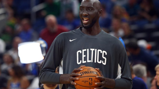 Celtics center Tacko Fall is getting the chance to keep working to his game while at Disney World, which will help in the development for the future.