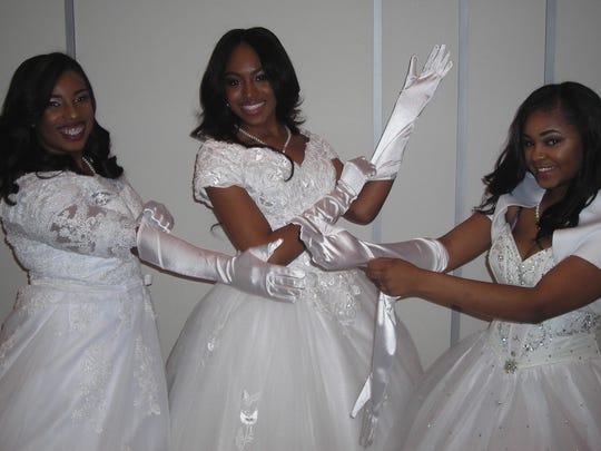 Gloves? Delta Debs show how it is done: Kearra Odums,