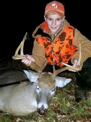 Ayden Sprague, 11, of Millerton, shot this 8-point buck Nov. 30.