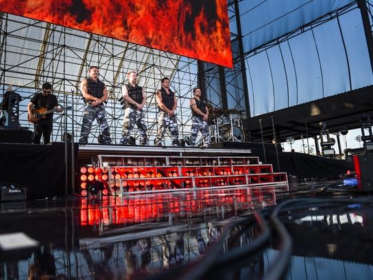 98 Degrees performs as the Mixtape Festival came to