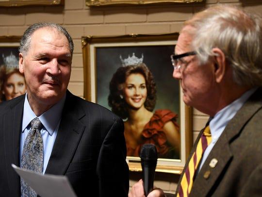Jackson City Mayor Jerry Gist reads a proclamation
