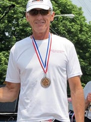 Badgerland Striders president Pete Abraham has finished
