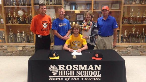 Rosman senior Josh Rice has signed to play baseball