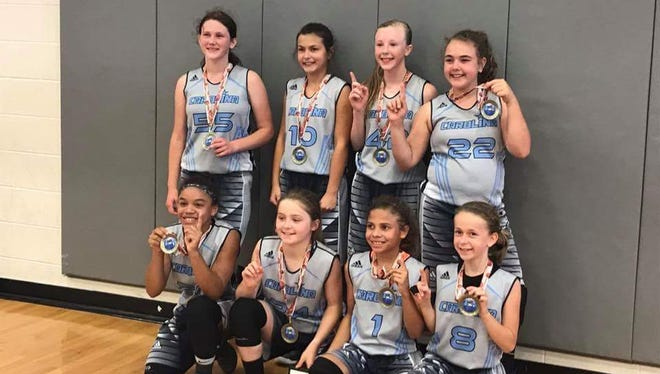 The Team Carolina-Asheville fifth grade girls basketball team won its age division last weekend at the Great Smokies Shootout in Hickory.