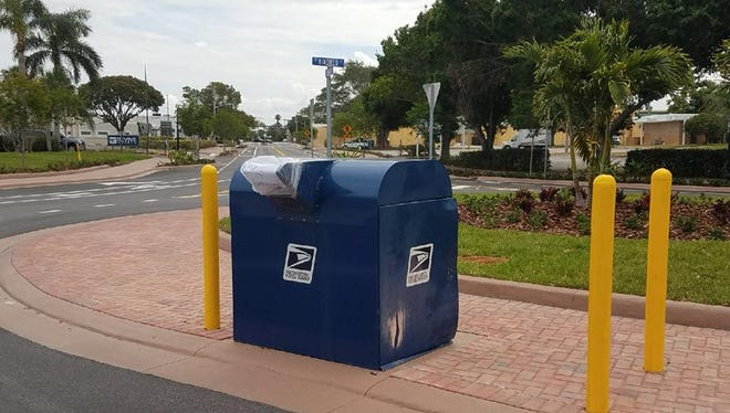 Stuart police said someone broke into a mailbox Friday night.