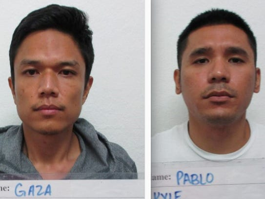 Jay Ryan Gaza, left, and Kyle Austero Pablo are shown