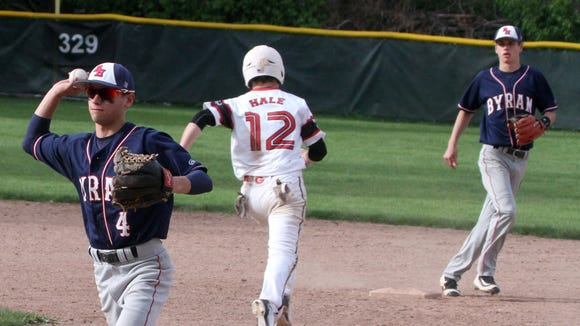 Byram Hills defeated Rye 4-0 in a varsity baseball game at Disbrow Park in Rye May 10, 2016.