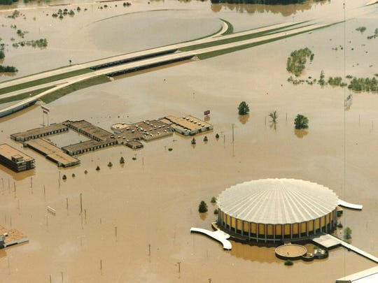 The Easter Flood of 1979 inundated a wide swath of downtown Jackson and surrounding Rankin County municipalities. Floodwaters sent the Pearl River 15 feet above flood stage.
